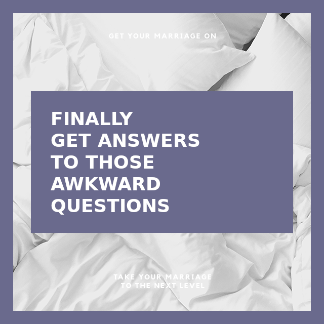 Finally Get Answers To Your Awkward Questions Without The Awkwardness